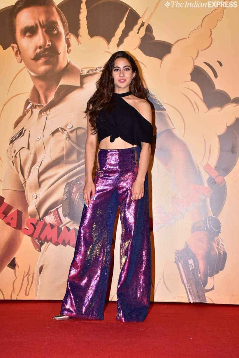 sara ali khan at simmba trailer launch