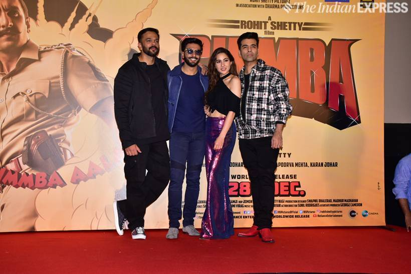 ranveer singh with simmba star cast