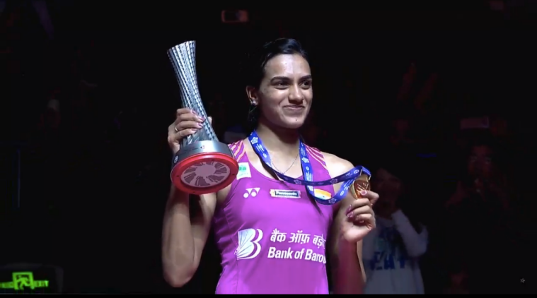 PV Sindhu after winning gold medal at the BWF World Tour Finals 2018