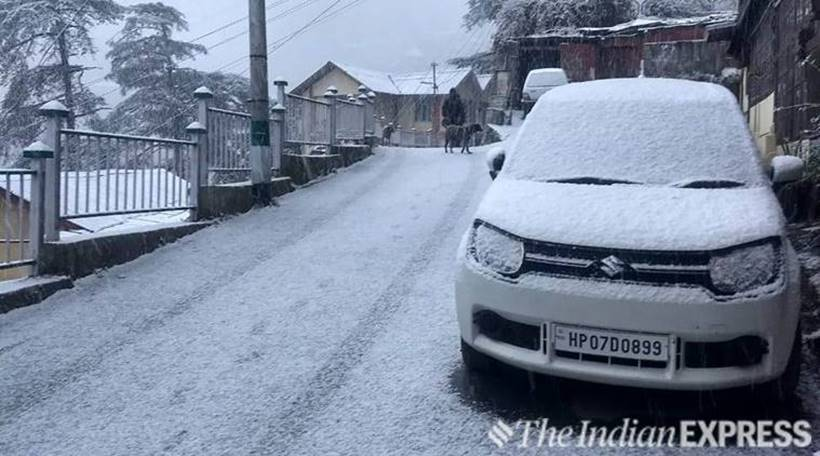 Nature's glory: Shimla gets first snowfall of the season