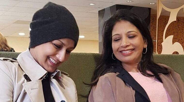 Sonali Bendre with her sister Rupa Randive