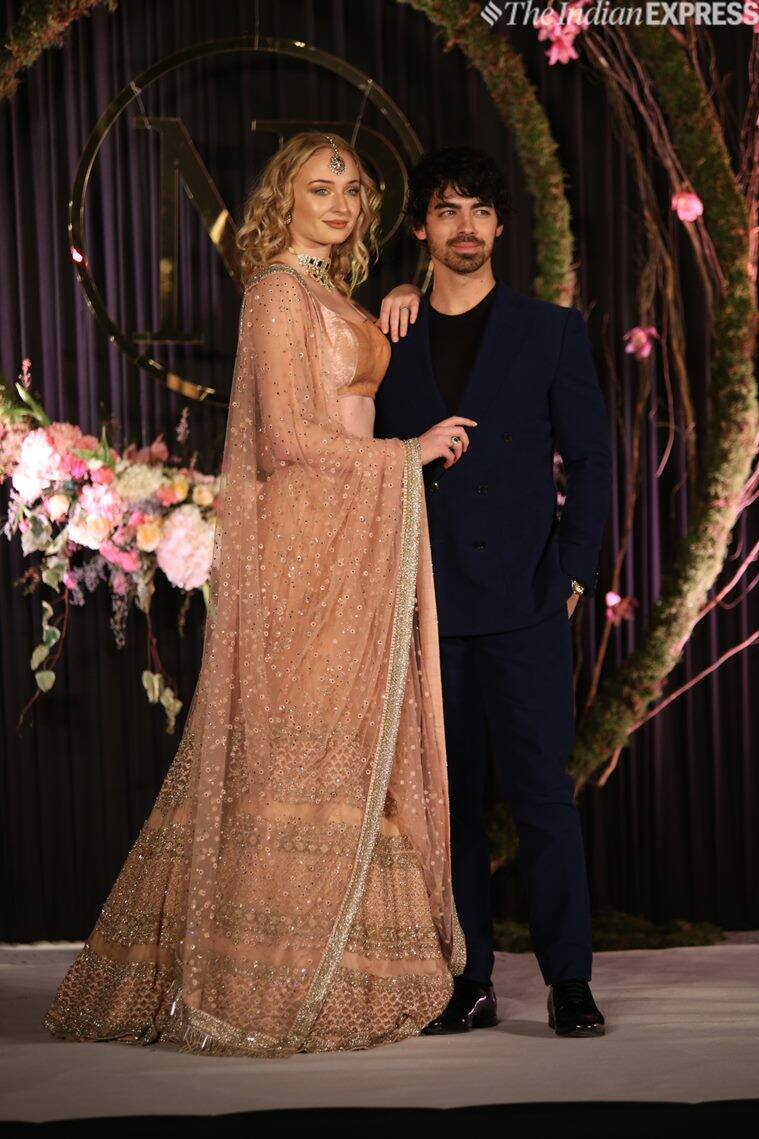 sophie turner and joe jonas at priyanka chopra wedding reception