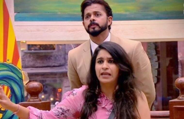 sreesanth and surbhi rana fighting in bigg boss 12