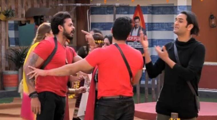 sreesanth fighting bigg boss 12