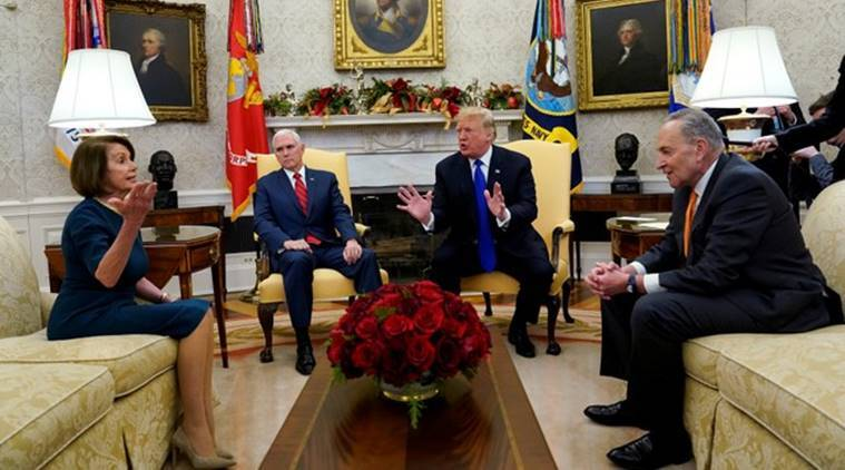 Donald Trump threatens shutdown in wild encounter with Democrats