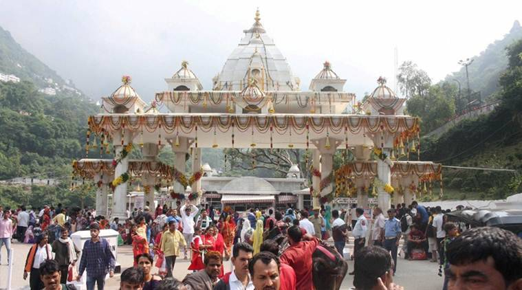 vaishno devi shrine, Vaishno devi mandir, vaishno devi temple, pilgrims at vaishno devi temple, pilgrim count at vaishno devi temple, jammu vaishno devi temple, indian express