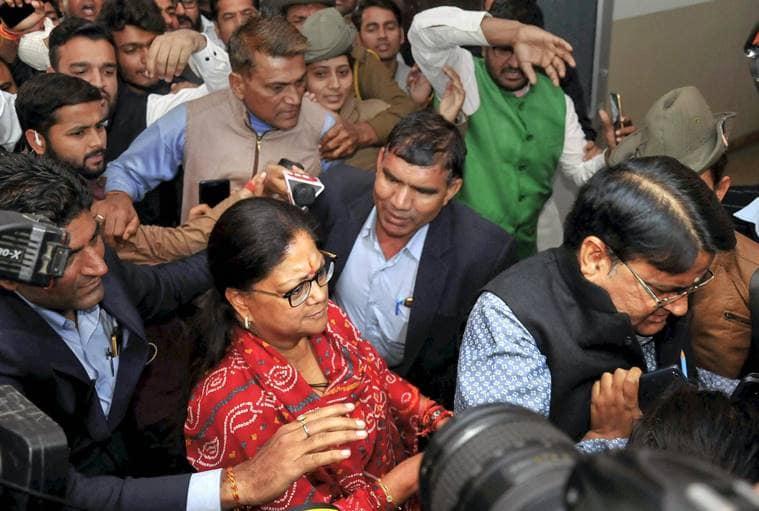 Rajasthan Assembly Election Results 2018 LIVE: Vasundhara Raje wins Jhalrapatan but BJP stares at loss to Congress