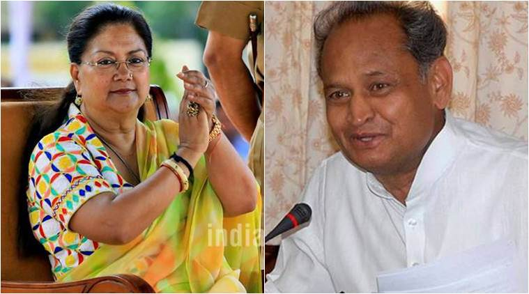 vasundhara raje, ashok gehlot, rajasthan news, 2018 year ends, assembly elections, jaipur news, indian express