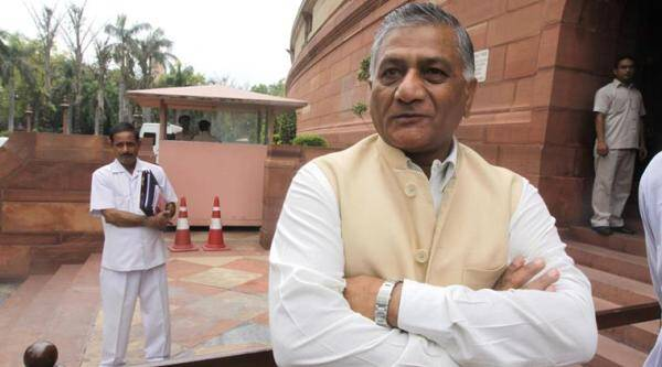 Union Minister Gen V K Singh. (Photo credit: Express file photo)