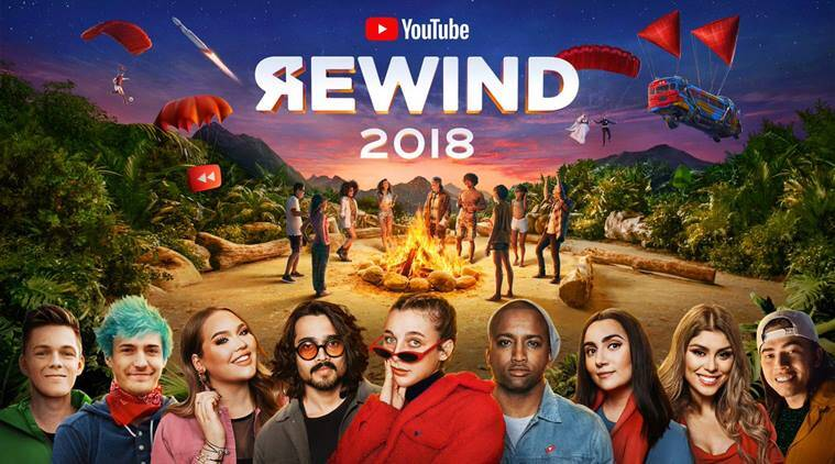 Youtube rewind 2018, Youtube rewind video, Youtube rewind 2018 backlash, Youtube rewind 2018 missing creators, Youtube rewind 2018 slammed, indian express, viral news,