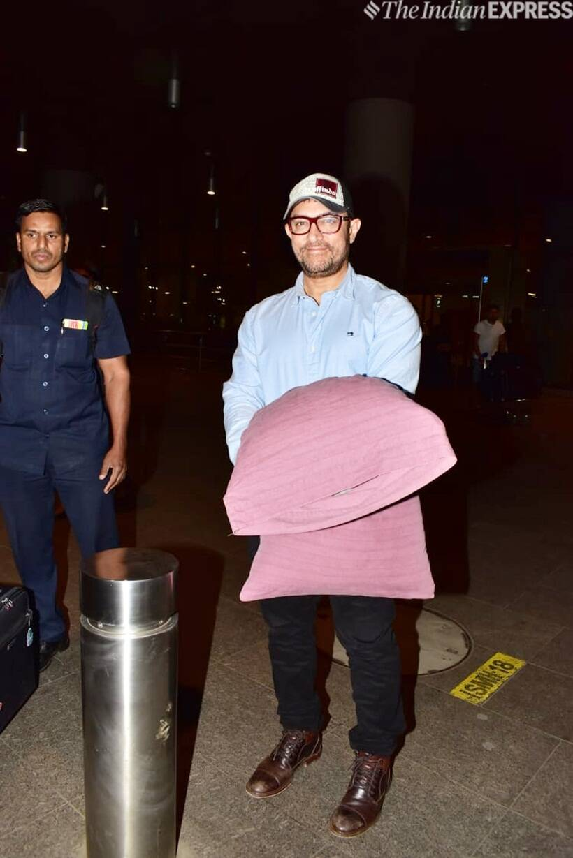Aamir Bachchan at airport