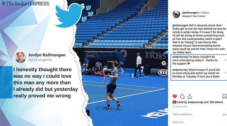andy murray, australia open, andu murray retirement, andy murray australian open practice match, andy murray apologise to fan, andy murray offers free ticket to fan, viral news, indian express, sports news, tennis news