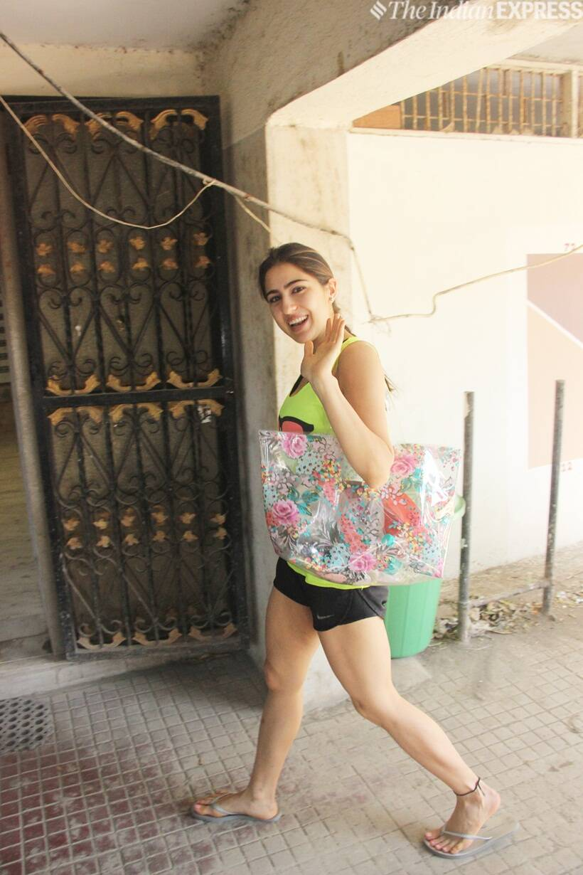 Sara Ali Khan at the gym
