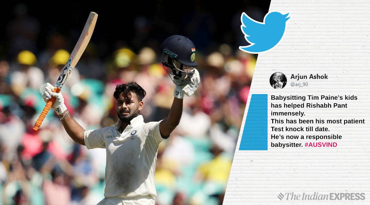 After Rishabh Pant S Test Ton In Australia Everyone S Cracking Babysitting Jokes Trending News The Indian Express