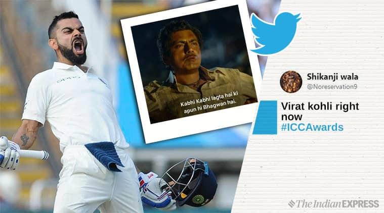 virat kohli, icc awards 2018, icc cricket awards kohli, kohli icc awards, kohli memes, cricket memes, cricket news, sports news, indian express