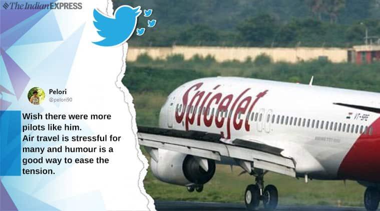 spicejet, spice jet pilot funny commentary, spice jet pilot funny annoucement, viral news, funny news, indian express
