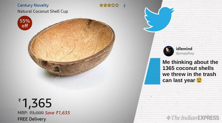 coconut shell, desi products heavy price, expensive price for indian products, funny news, odd news, viral news, indian express
