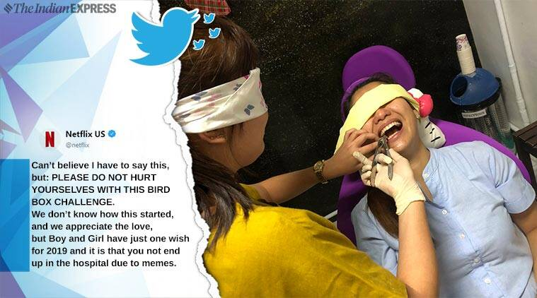 Netflix urges fans to stop taking up the #BirdBoxChallenge - read tweet