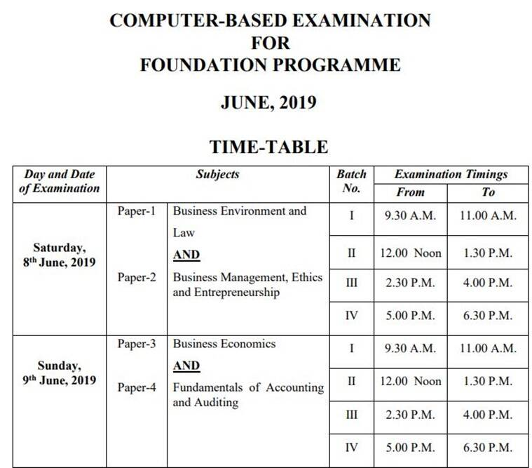 icsi cs june exams 2019, icsi cs time table, icsi.edu, icsi foundation time table, icsi cs exams 2019, icsi cs executive exam