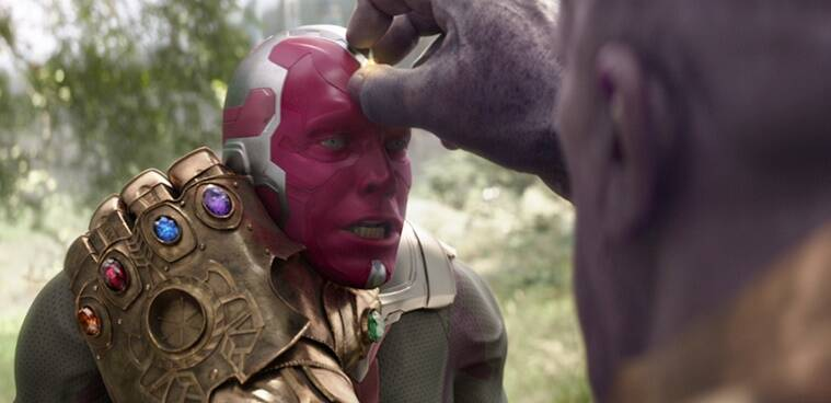 vision and thanos in avengers infinity war