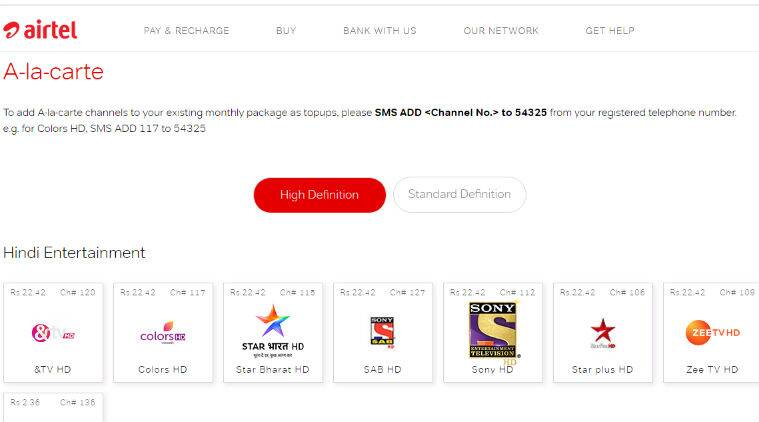 Airtel, Hathway, Dish TV release prices for channels after