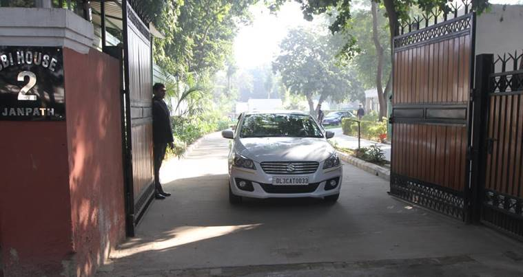 CBI director Alok Varma leaves for office (express photo by Prem Nath Pandey)