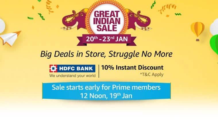 Amazon, Amazon Great Indian Sale, Amazon Great Indian Sale dates, Amazon Great Indian Sale offers, Amazon Great Indian Sale discounts, Amazon Great Indian Sale smartphone deals