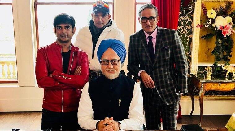 Anupam Kher with the team of The Accidental Prime Minister