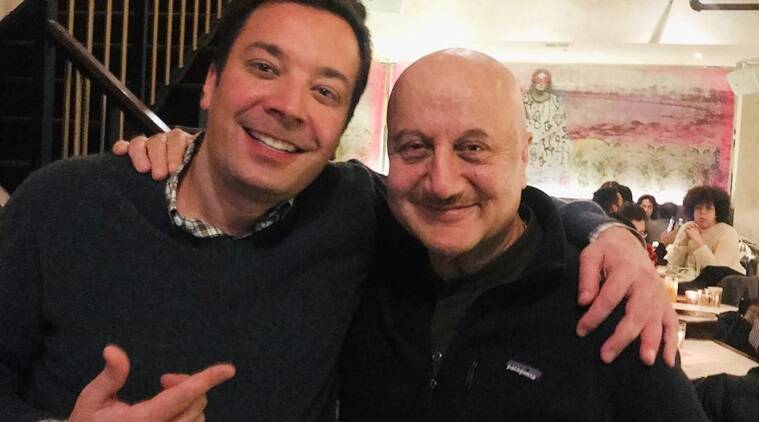 anupam kher meets jimmy fallon
