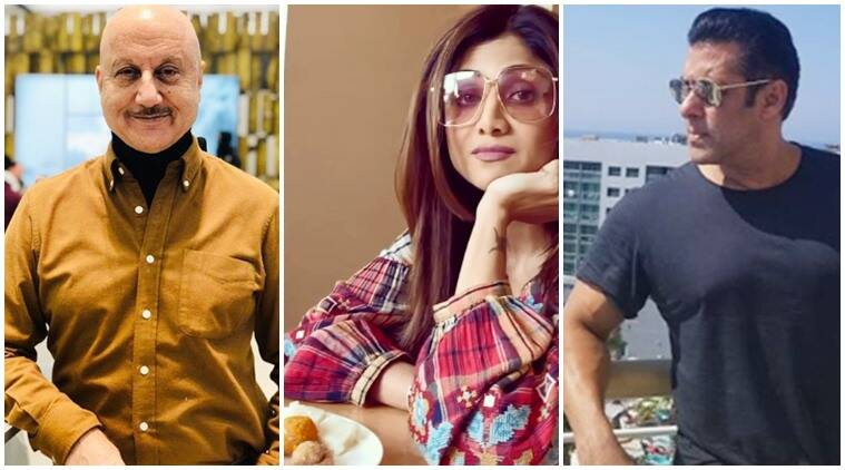 anupam kher, shilpa shetty salman khan social media videos