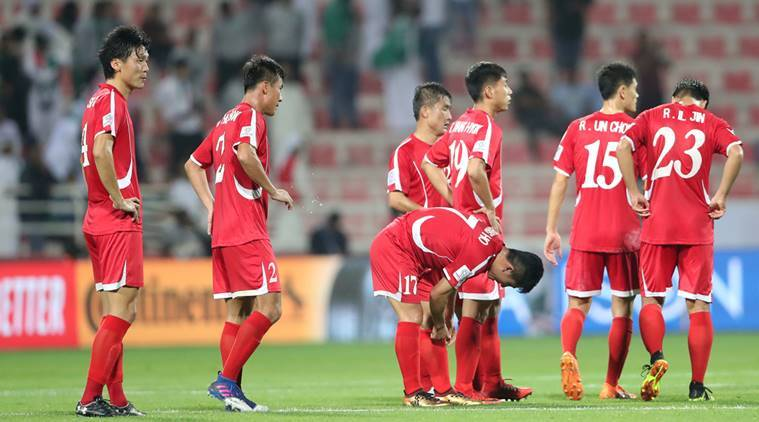North Korea players look dejected following their defeat to Saudi Arabia in the AFC Asian Cup 2019