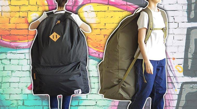 weird fashion trends, fashion trends 2019, bizarre fashion trends 2019, bizarre fashion trends, human-size backpacks, oversized backpack, CWF, CWF backpacks, CWF Plywood, Japan, Japanese retailer, Plywood, Backpacker's Closet, indian express, indian express news