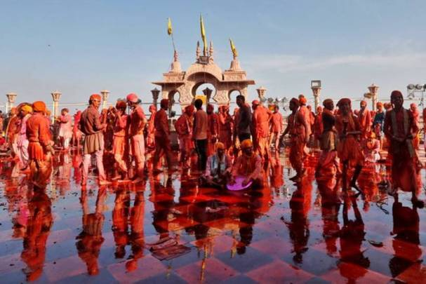 A riot of colours: Barsana, Nandgaon celebrate Lathmar Holi