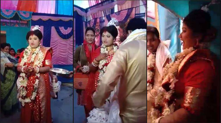 bengali bride, viral video, bengali bride parents debt video, bengali bride challenge rituals, indian express