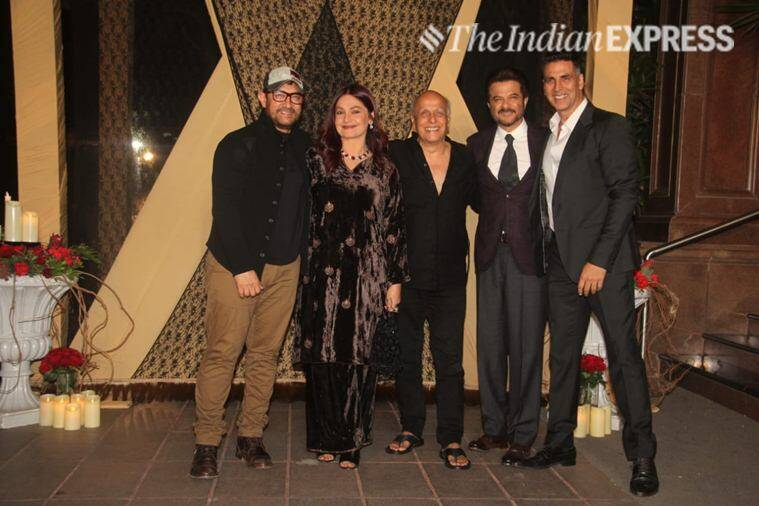 aamir khan, anil kapoor, akshay kumar at mukesh bhatt reception