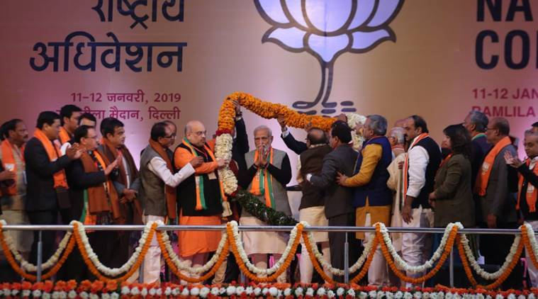 BJP council meet new delhi LIVE