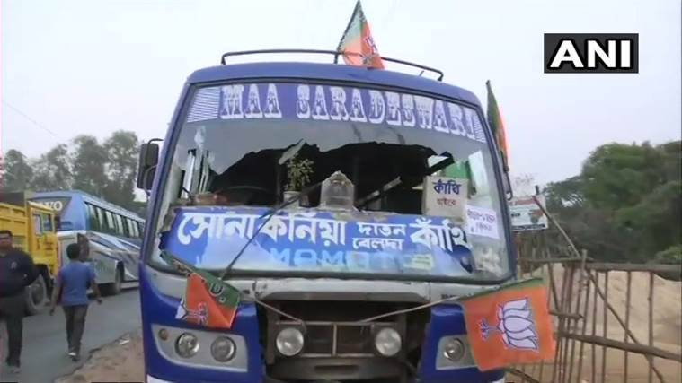 West Bengal: Vehicles parked outside Shah's rally vandalised, BJP alleges TMC hand