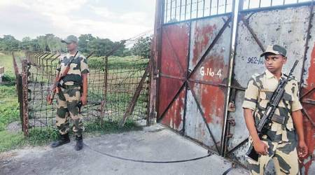 Tripura, tripura news, tripura border, 12 stranded at tripura border, indo-bangla border, indian express