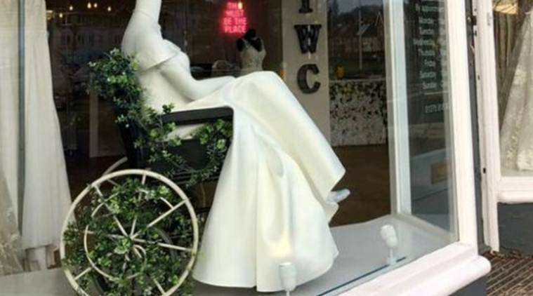 A photo of the exhibit at The White Collection in Portishead, near Bristol, went viral after being shared by Twitter user anddisabled artist Beth Wilson. (Photo courtesy: BBC)