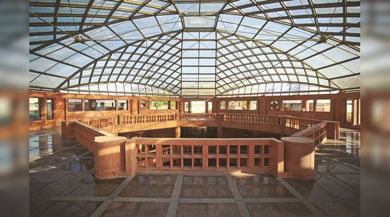architecture, Architect Raj Rewal, Parliament Library, Edward Lutyens, Herbert Baker, Rashtrapati Bhavan, the Parliament House, Central Public Works Department (CPWD), Parliament Library by the Architecture Research Cell, Delhi, indian express, indian express