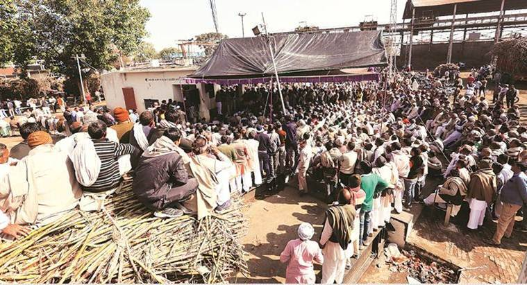 Shamli: Dues not paid for 2 years, cane farmers surround sugar mill