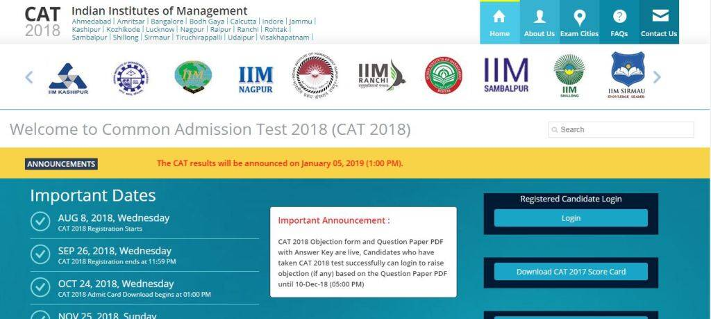 CAT result 2018, iimcat.ac.in, cat 2018