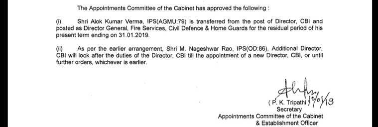 Alok Verma removed as CBI Director by PM Modi-chaired committee