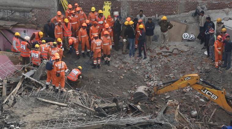 Gurugram building collapse: Two killed, five feared trapped in debris
