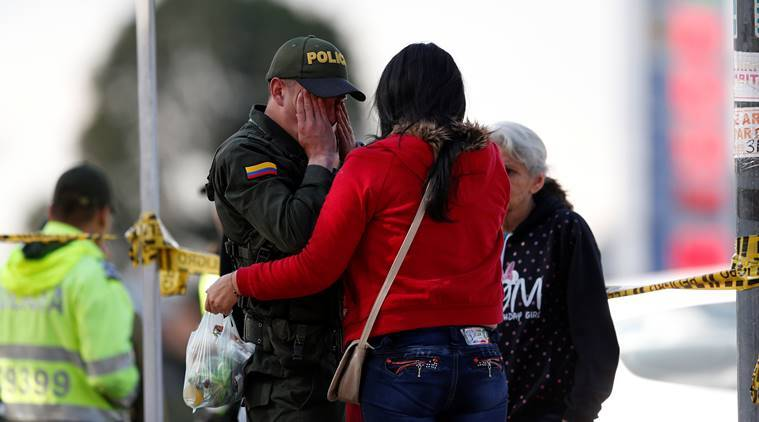 Bogota bombing, Colombia bombing, Colombia police academy bombing, Bogota police academy, Ivan Duque, Colombia attack, Colombia car bomb, Indian express, world news, latest news