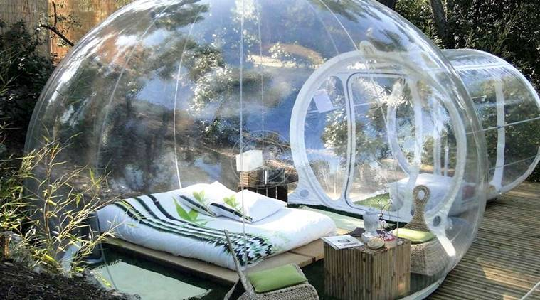 Ooty, Igloo shape transparent balloon ten