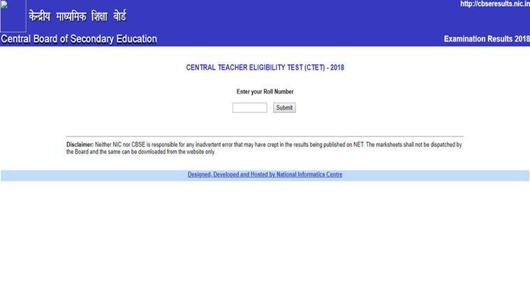 CTET result, ctet result, tet result, cbse tet result, CTET 2018 reuslts how to check, cte,nic,in, cbseresults.nic.in, ctest result website, education news, employment news, sarkari result, india results, indian express