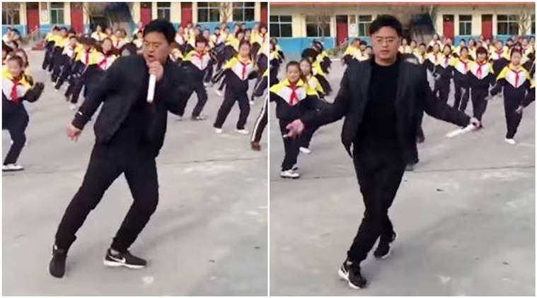 china, principal dance moves, principal students dance viral video, Dancing with school principal, Dancing with school principal video