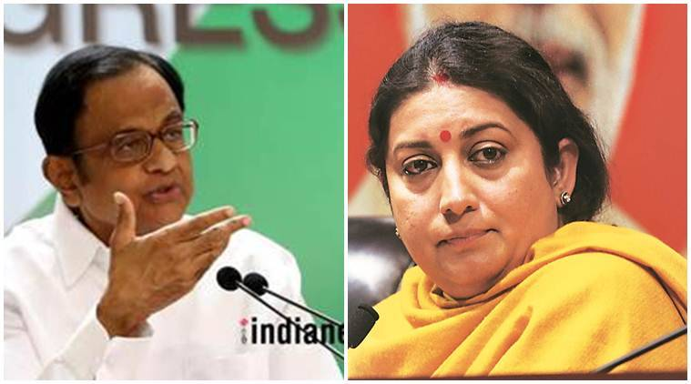 rafale deal, dassault, rafale jets, aircraft deal, congress, p chidambaram, smriti irani, cong vs bjp over rafale deal, rafale issue, indian express