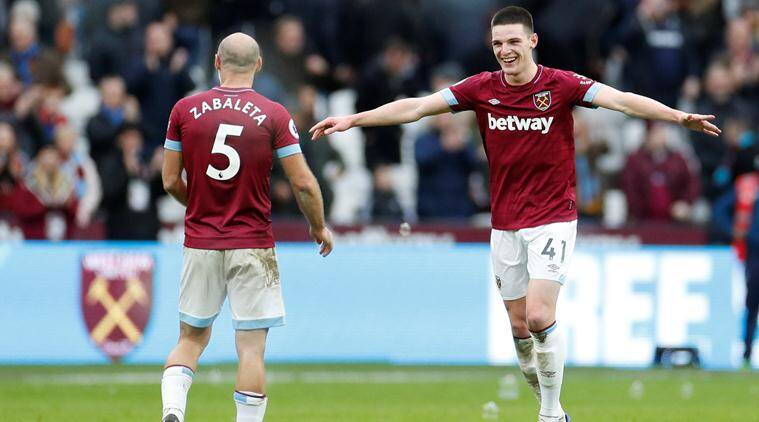 Declan Rice's first West Ham goal enough to sink Arsenal